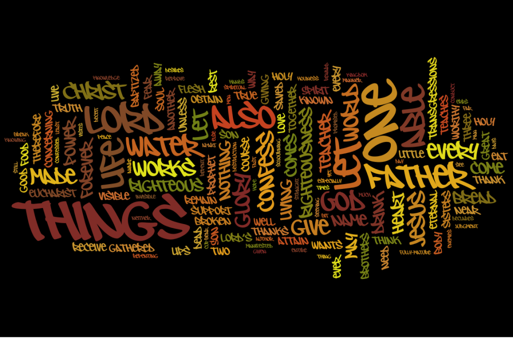 The Didache - as a wordle